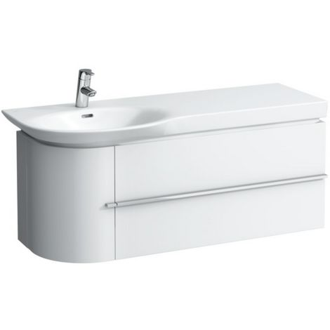 Mueble bajo lavabo Laufen, 1 puerta a la izquierda, 2 cajones a la derecha, 1140x375x450, color: Blanco brillante - H4016220754751