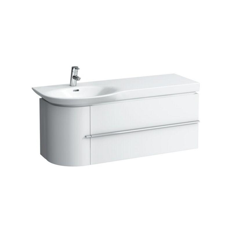 Mueble bajo lavabo 1 puerta a la izquierda, 2 cajones a la derecha, 1140x375x450, color: Roble Calizo - H4016220755191 - Laufen