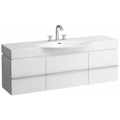 Mueble bajo lavabo Laufen, 2 cajones, 1490x460x375, para lavabos palacio 811706, 812706, 813706, 814706, 814706, color: Blanco brillante - H4013520754751