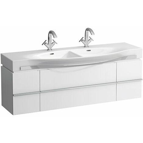 Mueble bajo lavabo Laufen, 2 cajones, 1490x460x375, para lavabos palacio 81370.6, color: Blanco brillante - H4013540754751