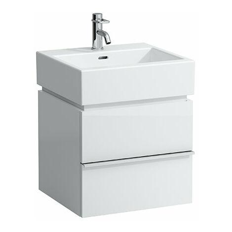 Mueble bajo lavabo Laufen, 2 cajones, 455x490x455, apto para lavabo living city 817431, color: Blanco brillante - H4011320754751