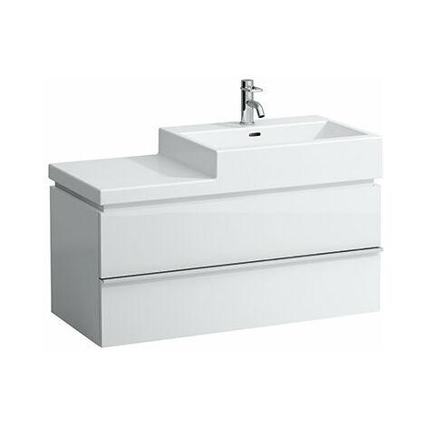 Mueble bajo lavabo Laufen, 2 cajones, 455x990x455, apto para lavabo living city 8.1843.7, 8.1843.1, 8.1843.2, color: Blanco brillante - H4012820754751