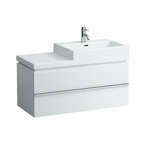 Mueble bajo lavabo Laufen, 2 cajones, 455x990x455, apto para lavabo living city 8.1843.7, 8.1843.1, 8.1843.2, color: Blanco brillante - H4012820754751