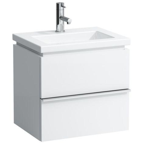 Mueble bajo lavabo Laufen, 2 cajones, 490x375x455, se adapta al cuadrado de la vivienda 1543.4, color: Nieve (blanco mate) - H4011420754631