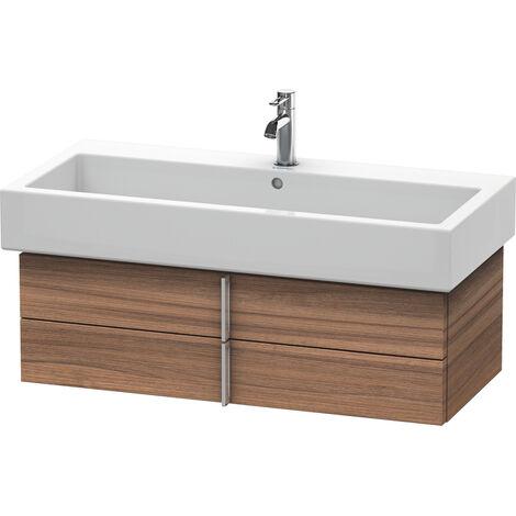 Mueble bajo lavabo Vero 6207, de pared, con 2 cajones, 950mm, Color (frente/cuerpo): Nogal cepillado Chapa de madera auténtica - VE620706969