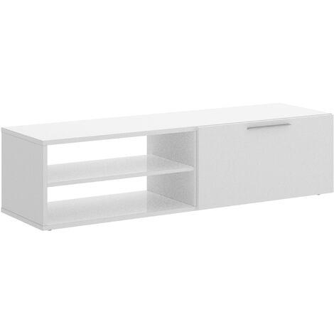 Mueble Bajo TV -Blanco Brillo- 33 x 131 x 40 cm