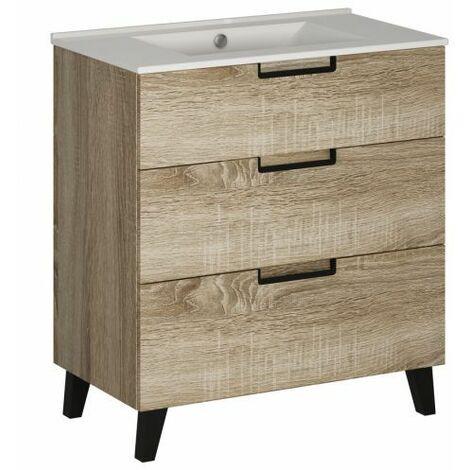 Mueble baño 3 cajones cambrian 60x39 cm Cáucaso Alterna