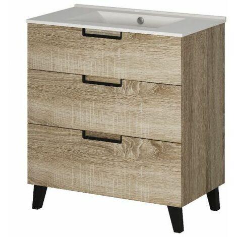 Mueble baño 3 cajones cambrian 80x45 cm Cáucaso Alterna