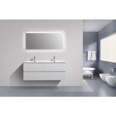 Mueble baño Alice 1200 blanco brillo intenso - Espejo opcional