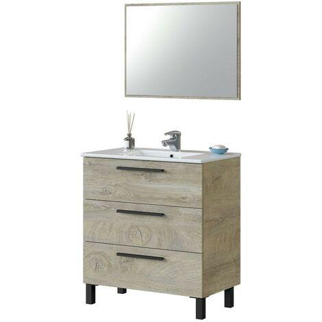 Mueble baño Athena aseo 3 cajones 80x45 cm (LAVABO OPCIONAL)