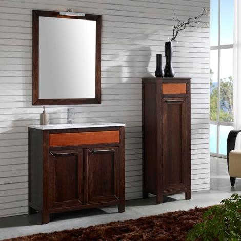Mueble baño con lavabo y espejo