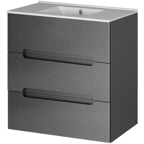 Mueble baño Olimpo 80cm gris lacado 3C