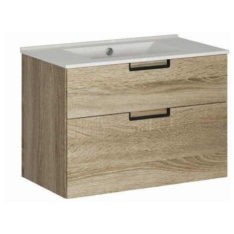 Mueble baño suspendido 2 cajones cambrian 60x39 cm Cáucaso Alterna