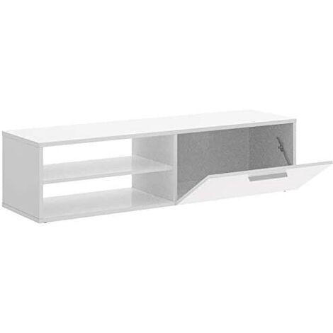 Mueble TV modelo Prima Blanca, medidas alto 40cm x ancho 130cm