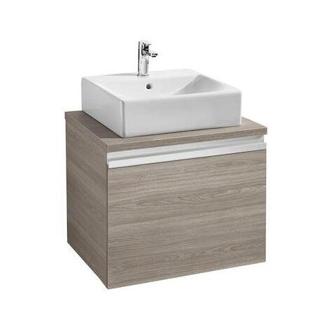 Mueble base Roca Heima para lavabo sobre encimera 600x500x500mm Fresno