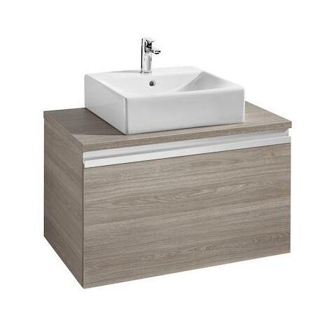 Mueble base Roca Heima para lavabo sobre encimera 800x500x500mm Fresno