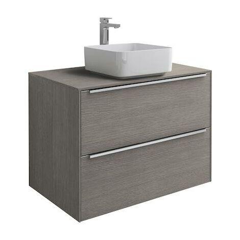 Mueble base Roca Inspira para lavabo sobre encimera 800x498x554mm Roble City