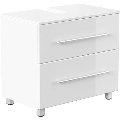 Mueble base universal con patas 70 cm Blanco brillante