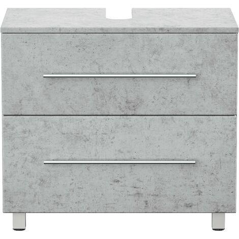 Mueble base universal con patas 70 cm Gris hormigón