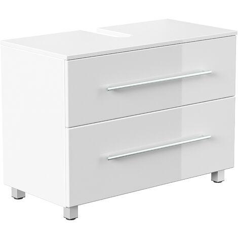 Mueble base universal con patas 85 cm Blanco brillante