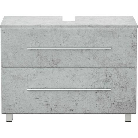 Mueble base universal con patas 85 cm Gris hormigón