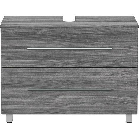 Mueble base universal con patas 85 cm Roble plateado