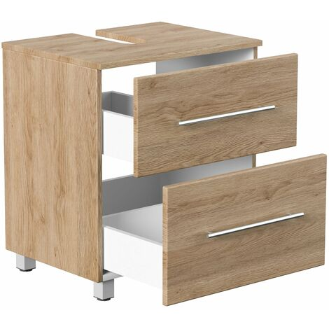 Mueble base universal en pie 55 cm Roble claro