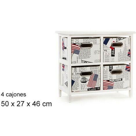 """main image of """"Mueble Blanco 4 Cajones Paises 50x27x46"""""""