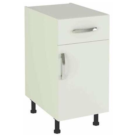 Mueble cocina bajo con 1 cajón y 1 puerta  en varios colores 83 cm(alto)40 cm(ancho)58 cm(largo)