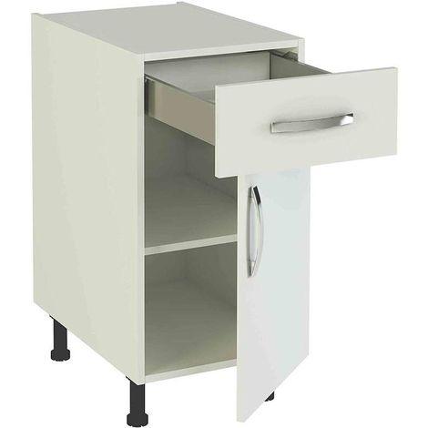 Mueble cocina bajo de 40 con 1 cajón y 1 puerta en varios colores Color Haya