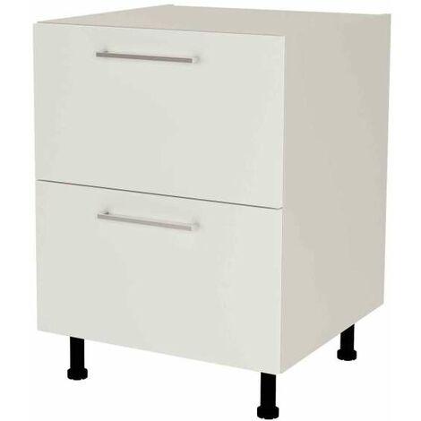 Mueble cocina bajo de 60 con cajones gaveteros en varios colores