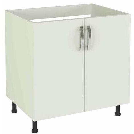 Mueble cocina de 80 bajo fregadero 2 puertas en varios colores