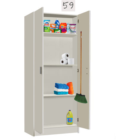 Mueble cocina Multiusos con COLGADORES Blanco, Medidas 59 cm (Largo) x 180 cm (Alto) x 37 cm (Fondo)