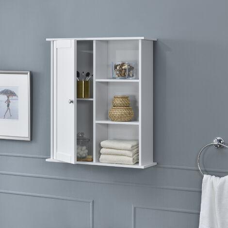 Mueble de baño - 71x60x18cm - Armario con 5 cajones - blanco