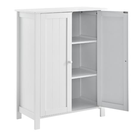 Mueble de baño - 80x60x30cm - blanco - Armario con 3 estantes