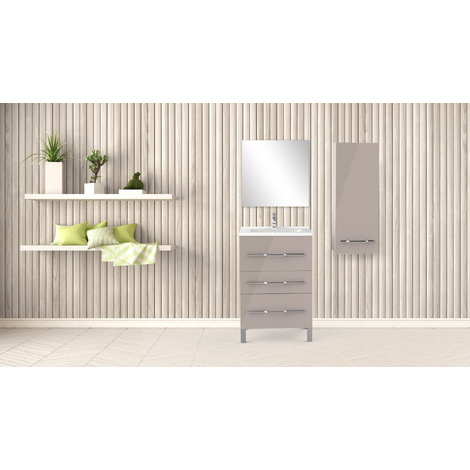 Mueble de bano ALAN 60 Cashmer Dimensiones : 61x46x88 cm - Aqua +