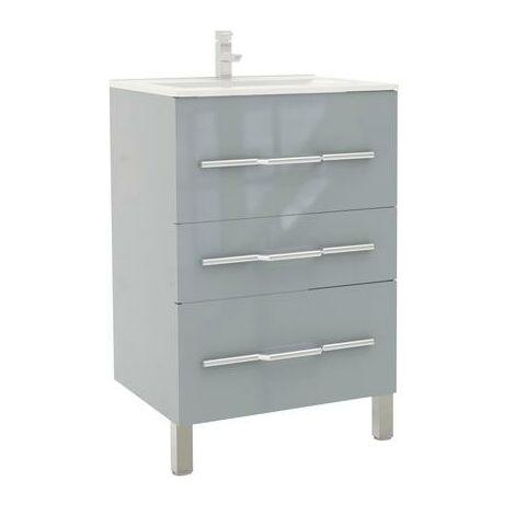 Mueble de bano ALAN 60 Gris ceniza Dimensiones : 61x46x88 cm - Aqua +