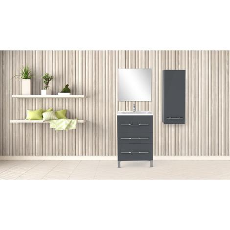 Mueble de bano ALAN 60 PIMIENTA Dimensiones : 61x46x88 cm - Aqua +