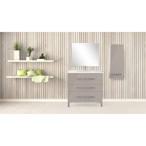 Mueble de bano ALAN 90 Cashmer Dimensiones : 91x46x88 cm - Aqua +