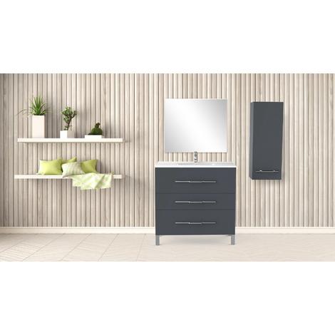 Mueble de bano ALAN 90 PIMIENTA Dimensiones : 91x46x88 cm - Aqua +