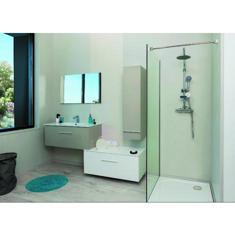 Mueble de baño ALTO TERRY 90 Topo Dimensiones : 91x46x34,3 cm - Aqua+