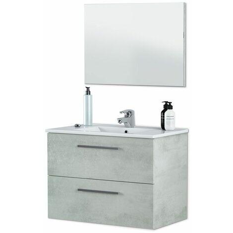 Mueble de baño Aruba 2 cajones - Cemento