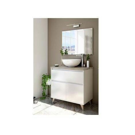 Mueble de baño aseo 1 cajón 2 puertas 81x46 (LAVABO OPCIONAL)