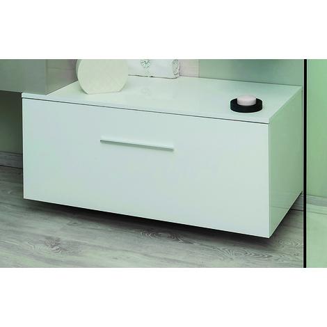 Mueble de bano Bajo TERRY 90 Blanco Dimensiones : 90x45x33,6 cm - Aqua+