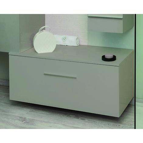 Mueble de bano Bajo TERRY 90 Topo Dimensiones : 90x45x33,6 cm - Aqua+