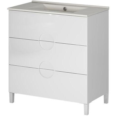 Mueble de baño blanco 3 cajones Sfera
