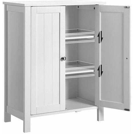 Mueble de baño blanco con puertas 80 * 60 * 30cm ES