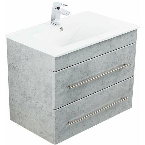 Mueble de baño Casa Infinity 750 Gris hormigón