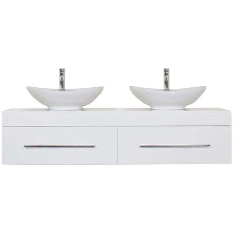 Mueble de baño Classico XL Blanco brillante con sin asas cajones