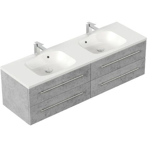 Mueble de baño Colossos 160 Gris hormigón